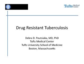 Drug Resistant Tuberculosis Symposia - The CRUDEM Foundation by The CRUDEM Foundation, via Slideshare