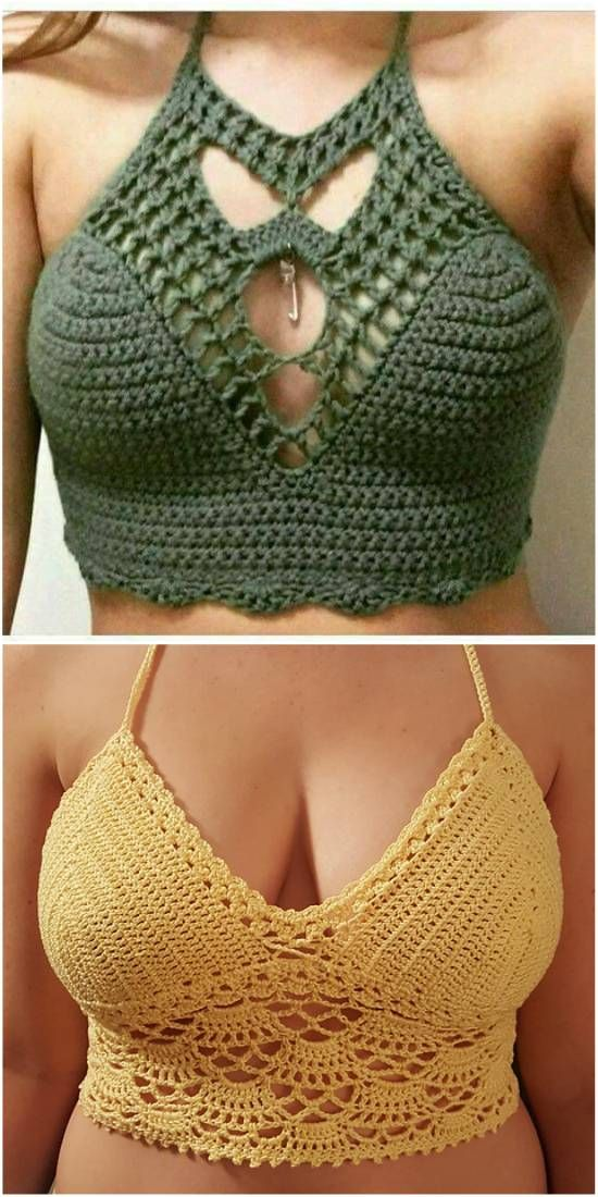 The Best Crochet Halter Tops - Crochet Patterns, Free Patterns. Sleeveless tops are a must this summer. See our crocheted top guide to pick out something for yourself. Remember that each crop top can be crocheted to a longer length and transformed to a halter top or sleeveless top.