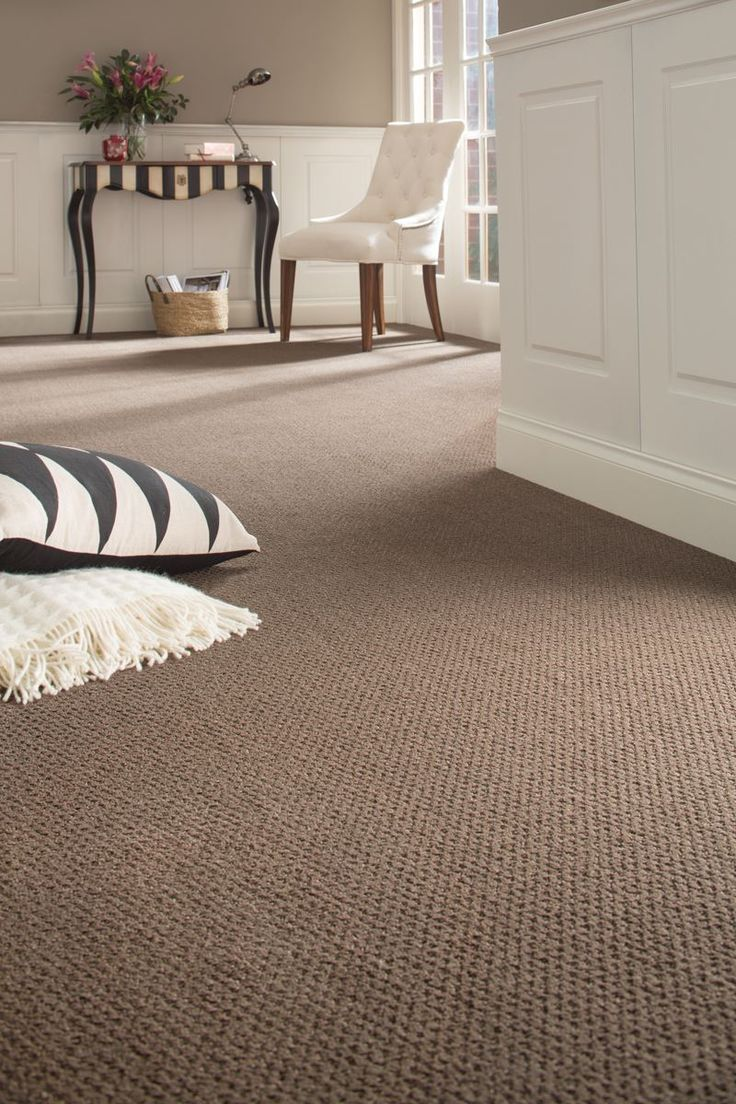 Pin 2:  This solution-dyed nylon carpet is family friendly and stain resistant.  The synthetic fibres make big or little spills no problem at all!!!