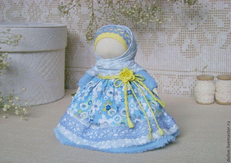 """Куколка """"Колокольчик"""" - голубой,народная кукла,традиционная кукла,русская кукла"""