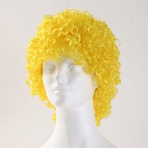 West Bay Curly Medium Clown Wig - Yellow