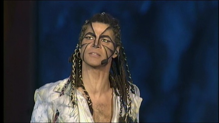 Marco Guerzoni as Clopin in the italian version of Notre Dame De Paris