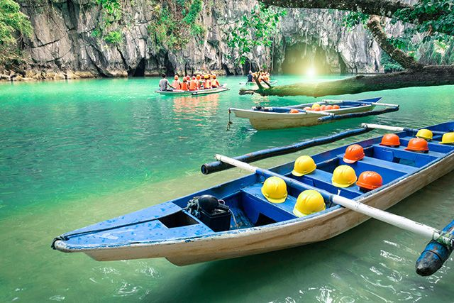 Parc national Puerto Princesa Subterranean River, Philippines.