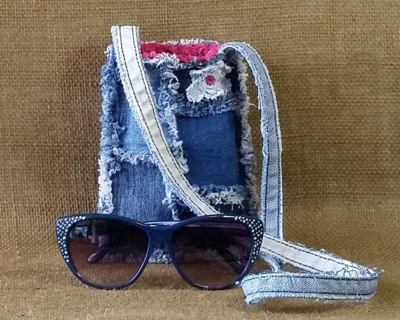Denim Patchwork Purse Handmade from Recycled Blue Jeans! All of my designs are unique and 100% handmade by me, Michele--Miss Thread. Thank you so much for taking a look at my designs and supporting my love of recycling! Do do you recycle?