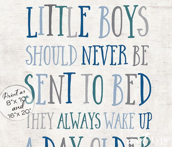Peter Pan Print Quote Little Boys Should Never Be by theARTofTYPE