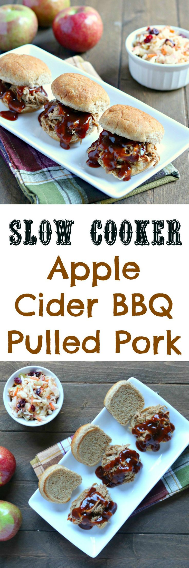 slow-cooker-apple-cider-pulled-pork #sponsored