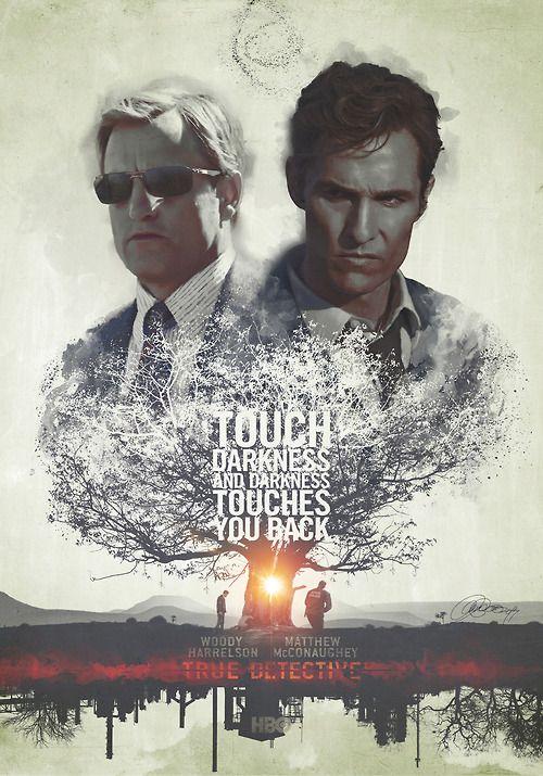 Bad Men 'True Detective' Tribute Poster.Mixed media –digital...