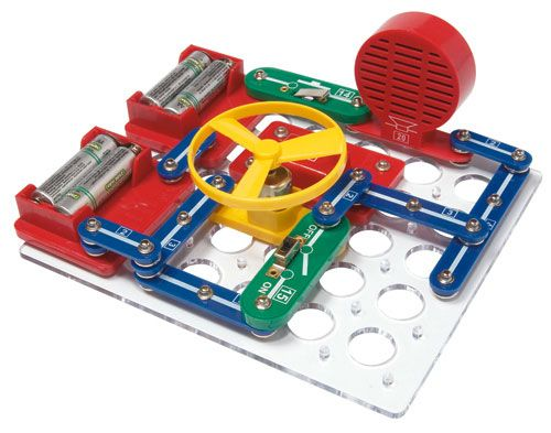 Produce light, sound, moving machines, robotics with these amazing electronics kit series and parallel circuits inc Electro Lab from Heebie Jeebies.