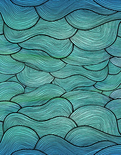 Pattern Illustrations - Pom Graphic Design #seawaves #waves #seapattern