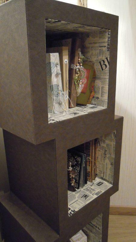 meuble en carton hubi r alis par evelyne 76 partir d 39 un patron de l 39 atelier chez soi. Black Bedroom Furniture Sets. Home Design Ideas