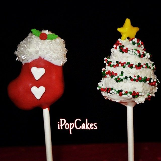 i Pop Cakes: Christmas tree and stocking cake pops. | Amazing Cake ...