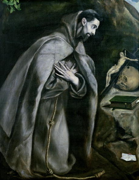 St. Francis of Assisi by El Greco.