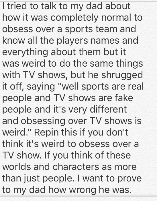 Completely agree. I mist repin this on every fandom board I have, and that's a lot of boards.