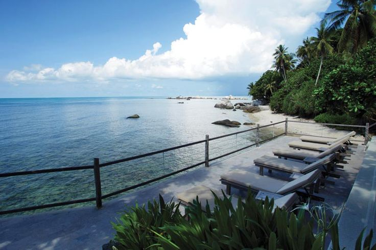 Nikoi is an eco-friendly lodging located just 5 miles off the east coast of Bintan. The resort is serene and rugged with 15 two-story beach houses with seafront location.