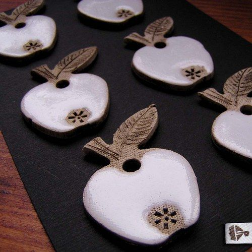 Keramické vánoční ozdoby - jablíčka