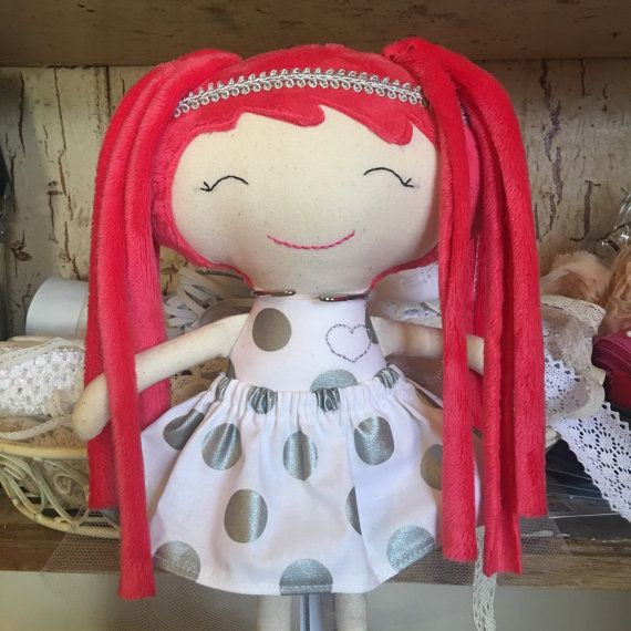 Doll. Cloth doll. Fabric doll. Rag Doll. Vintage Doll. Keepsake Doll. Heirloom Doll. Handmade Doll. Modern.