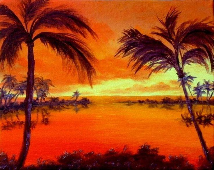 23 best images about sail boat paintings on pinterest for Painting palm trees