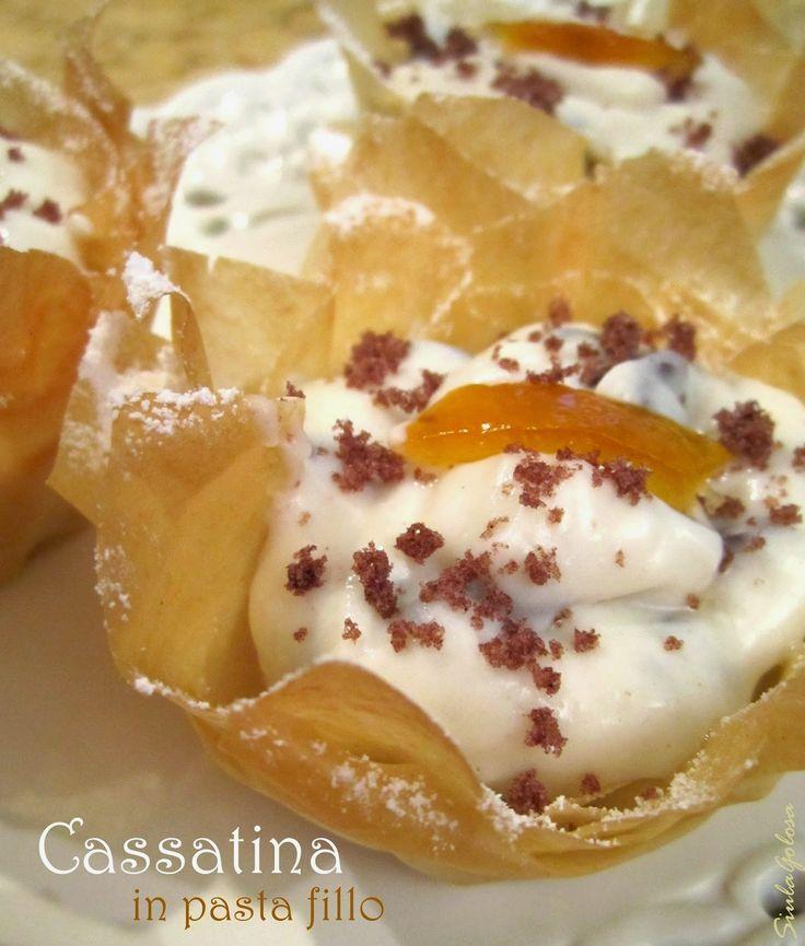 Siula Golosa: Cassatine in pasta fillo