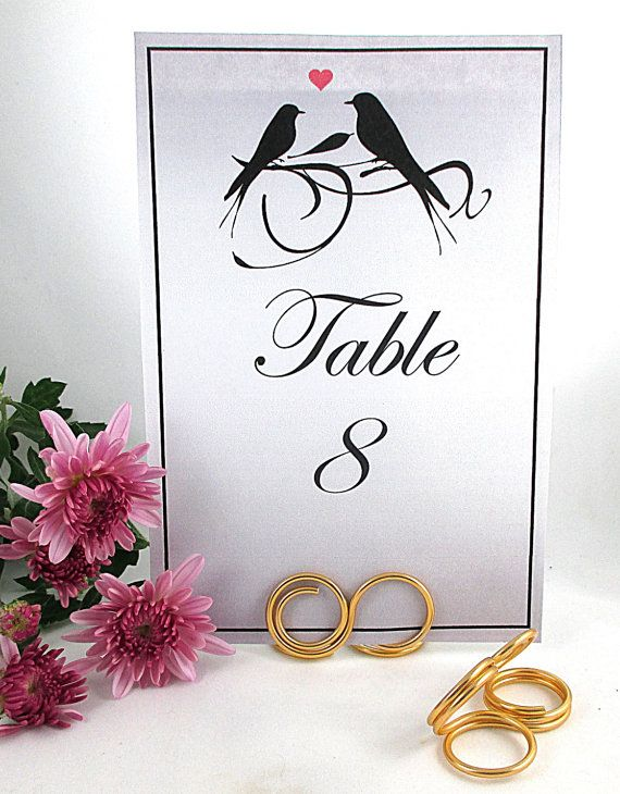 Infinity Table Number Holder, Wedding Table Number Stand, Place Card Holder by SimpleGem