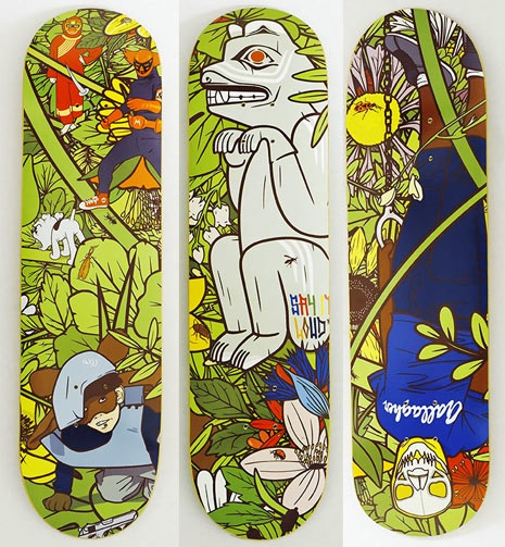 Jungle Fever. Series of 3 boards I did for No Comply in Australia