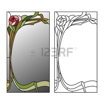 rose stained glass template - Google Search