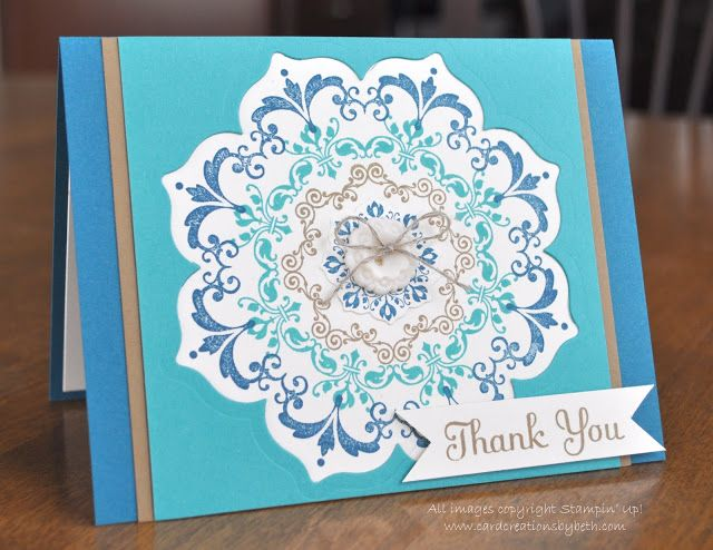 Card Creations by Beth: More Daydream Medallions; stampin up