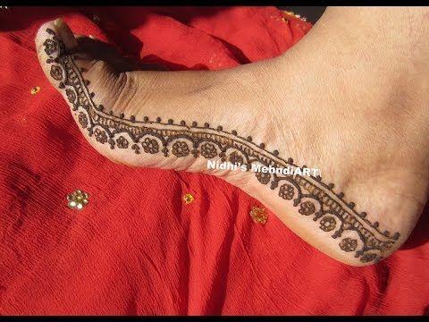 YouTube best #feet #henna #mehndi #border #strip #design #tutorial mahendi