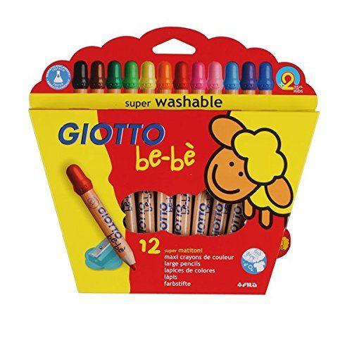 Giotto 460200 Etui de 12 crayons de couleurs Giotto bébé maxi bois + taille crayons 7 mm: Amazon.fr: Fournitures de bureau