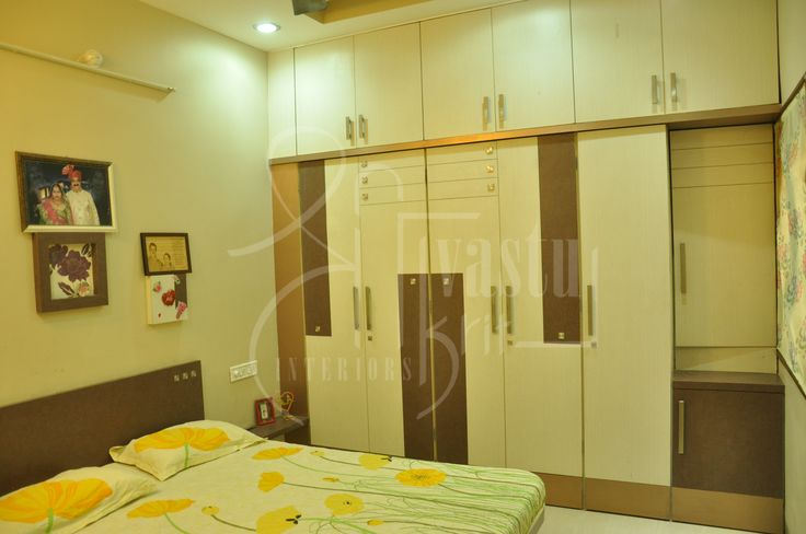 Cozy Bedroom with well facilitated wardrobes.  #InteriorDesiging #Furniture #Vastu #ShriVastuKrit #Indore #Wardrobes #Bed