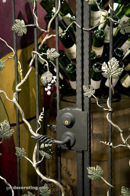 Wrought Iron Grape Vine Wine Cellar Door Door Ideas
