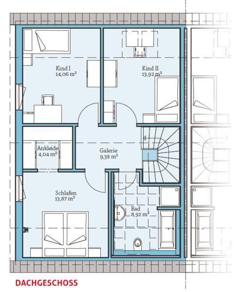 Fertighaus Doppelhaus 35-130