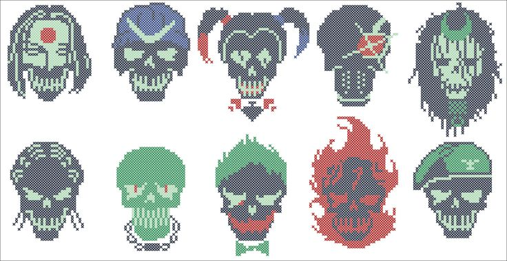 BOGO FREE! Suicide Squad CHARACTERS Marvel  Comics Character Cross stitch pattern-pdf cross stitch pattern-instant download #170 by Rainbowstitchcross on Etsy