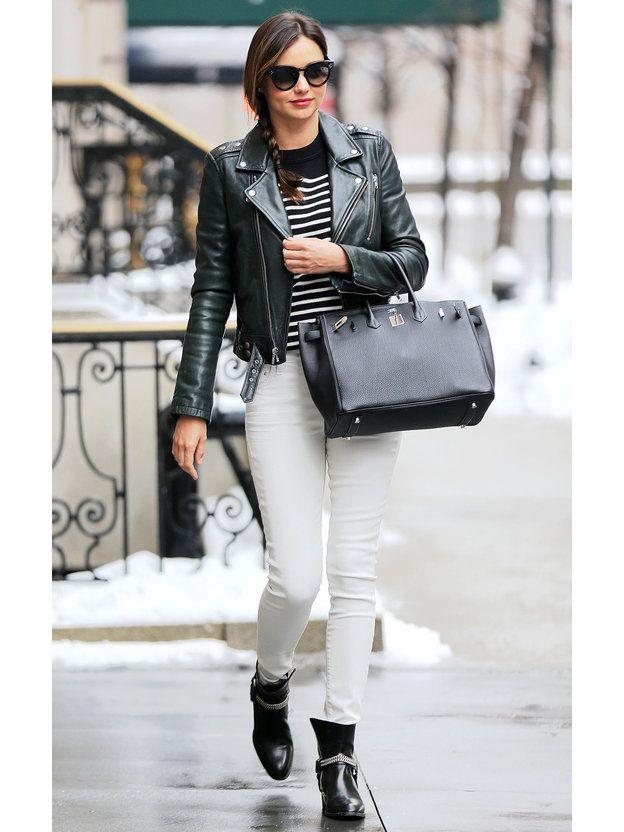 ミランダ・カーに習う白デニムの着こなし術
