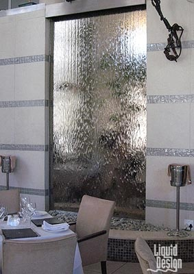 Kream - bronze mirror indoor water wall