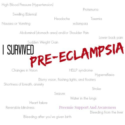 I survived pre eclampsia and Hellp syndrome