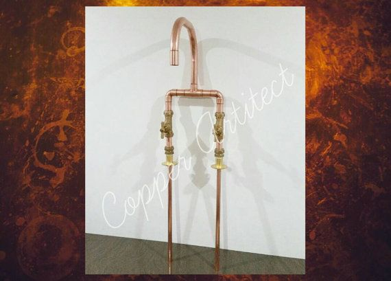 Check out this item in my Etsy shop https://www.etsy.com/uk/listing/493046741/rose-gold-22mm-copper-pipe-bath-sink-tap
