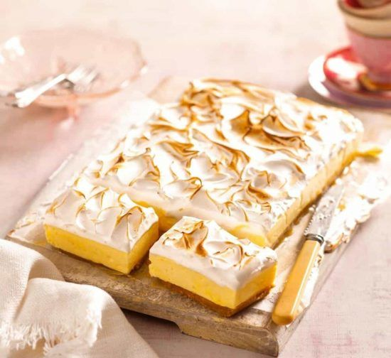 Lemon Meringue Pie Cheesecake Slice