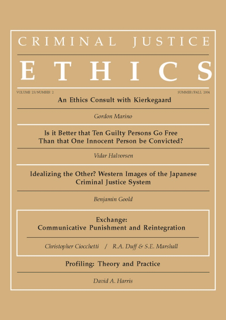 Institute for Criminal Justice Ethics