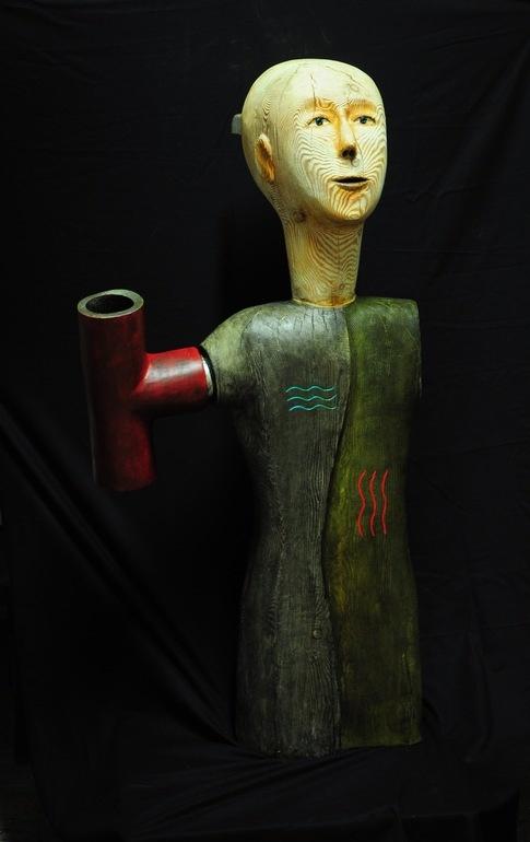 "Saatchi Online Artist: paolo figar; Wood, 2011, Sculpture ""drinking water"""