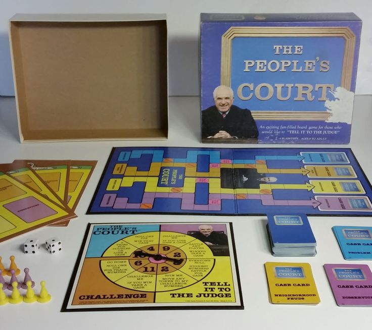 Vintage Complete 1986 The People's Court Family Board Game Hoyle Judge Wapner  #HoyleProducts