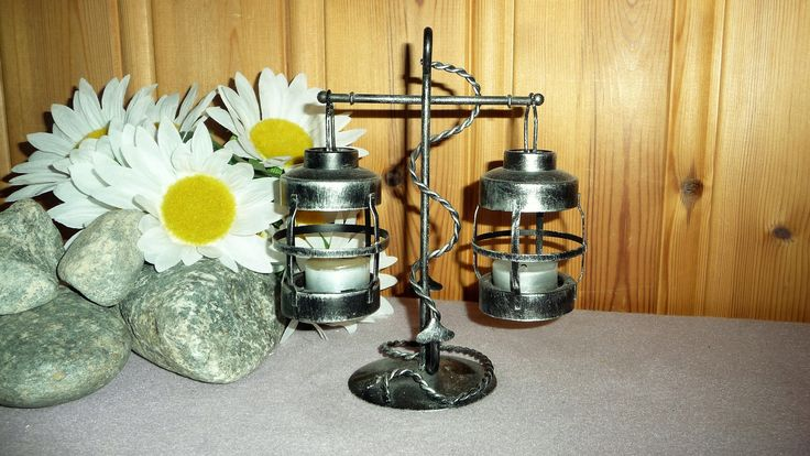 Vintage Black Metal Anchor 2 Arms Candle Holder Nautical Lantern Candlestick Nautical Home Decor by Grandchildattic on Etsy