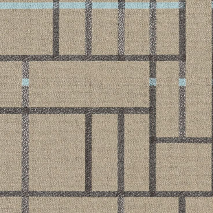 Subdivide - Riverwalk | Subdivide harkens back to the Bauhaus, where architectural drawings and plans were drafted with the guiding principles and foundation of modernism. Utilizing a loom with a large horizontal repeat capability, we've created a large pattern of linework and blocks designed to be cut and sewn without having to match the repeat. Natural fibers on the surface create a soft hand, while a nylon warp provides the strength to meet 100,000 double rubs.