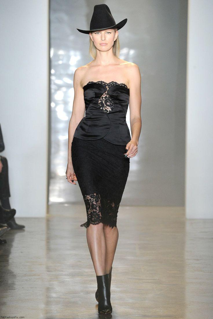 Karolina Kurkova for Cushnie Et Ochs fall/winter 2014 collection - New York fashion week