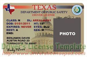 Texas Drivers License PSD - TX Drivers License PSD