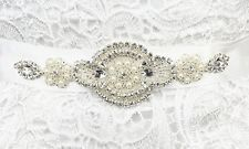 QueenDream Vintage Rhinestone Crystal Wedding Bridal Sash Belt