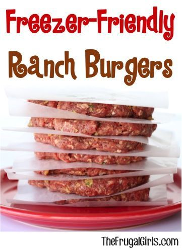 Freezer Friendly Ranch Burger Recipe! ~ from TheFrugalGirls.com ~ stock your freezer with some outrageously delicious Burgers!