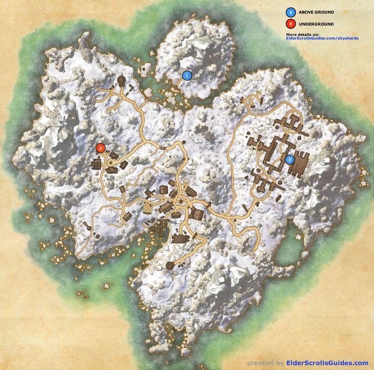 Bleakrock Isle Skyshards Map