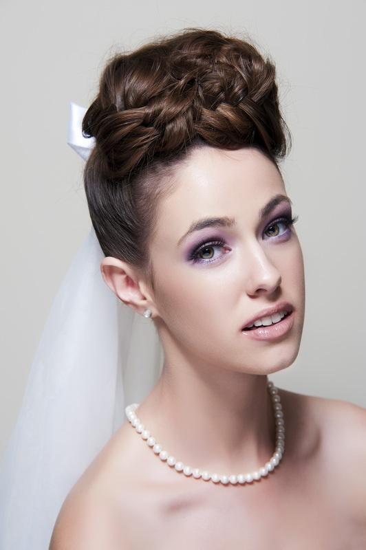 Adelaide Bridal Hair And Makeup Purple Eyes Pink Lips Nude
