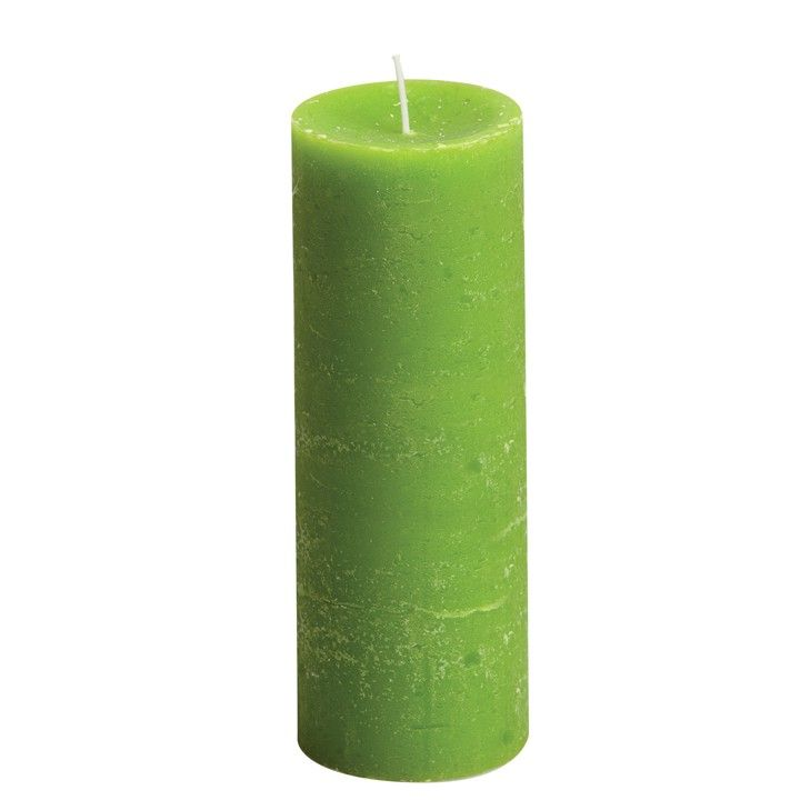 Stompkaars rustiek frisgroen. Een frisgroene kaars voor op elke plek in huis. #intratuin