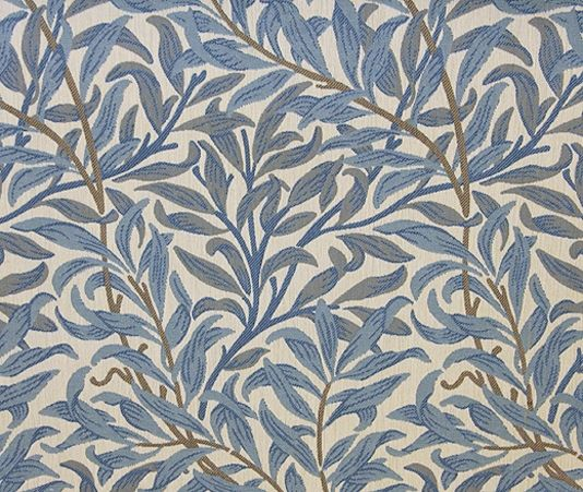 Willow Bough Upholstery Fabric Another favourite William Morris pattern, here the willow boughs design has been produced as a fine jacquard weave, in  blue on natural.